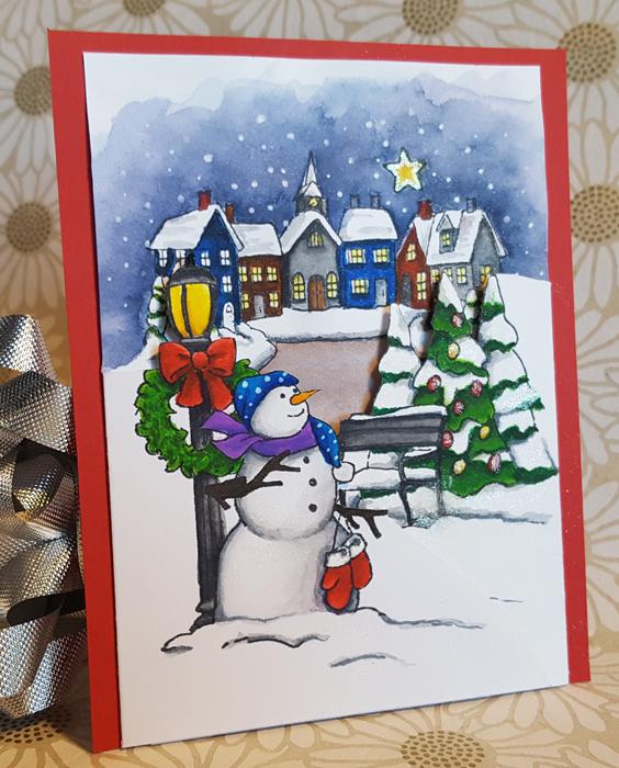 12 days of christmas cards tri fold christmas - Tri Fold Christmas Cards
