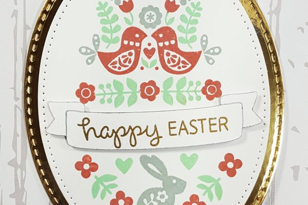 Nordic Folk Art Easter Card