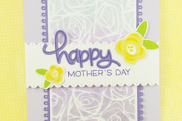 Lavender Ombre Glitter Mother's Day Card