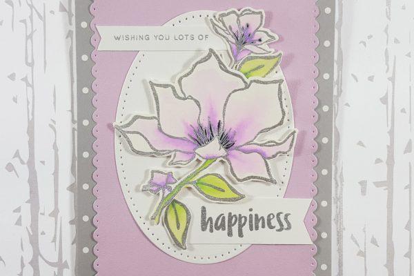 Lavender & Gray Floral Wedding Card