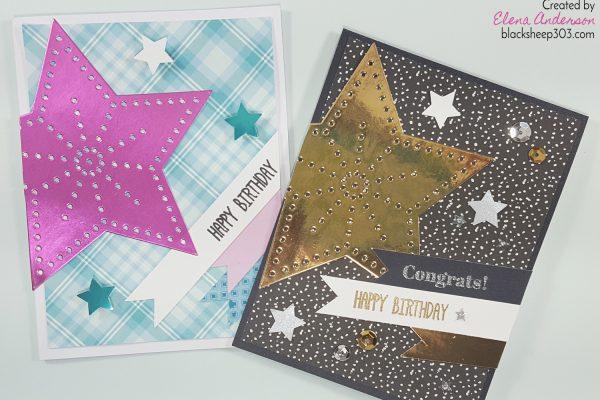 Feminine & Masculine Versions of the Same Birthday Card