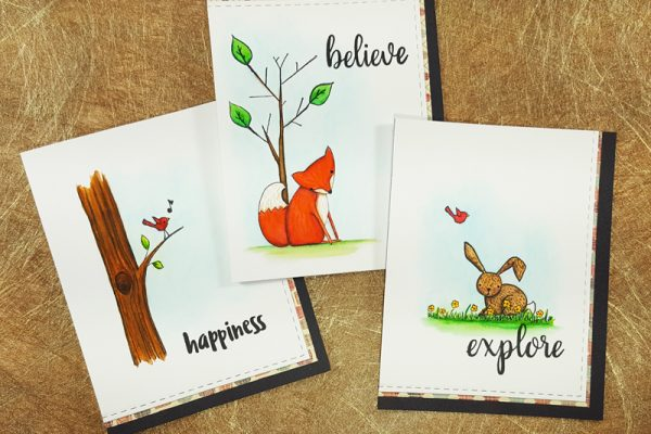 Clean and Simple Woodland Pals Cards