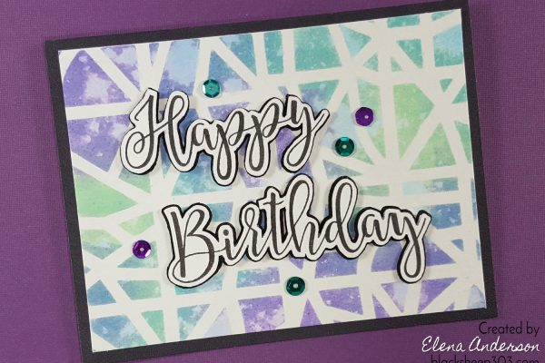 Distress Oxides & Sophisticated Script Birthday Card