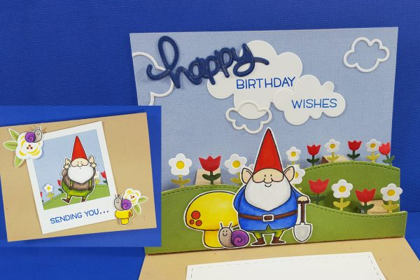 Pop-Up Gnome Birthday Card with Lawn Fawn & MFT Stamps