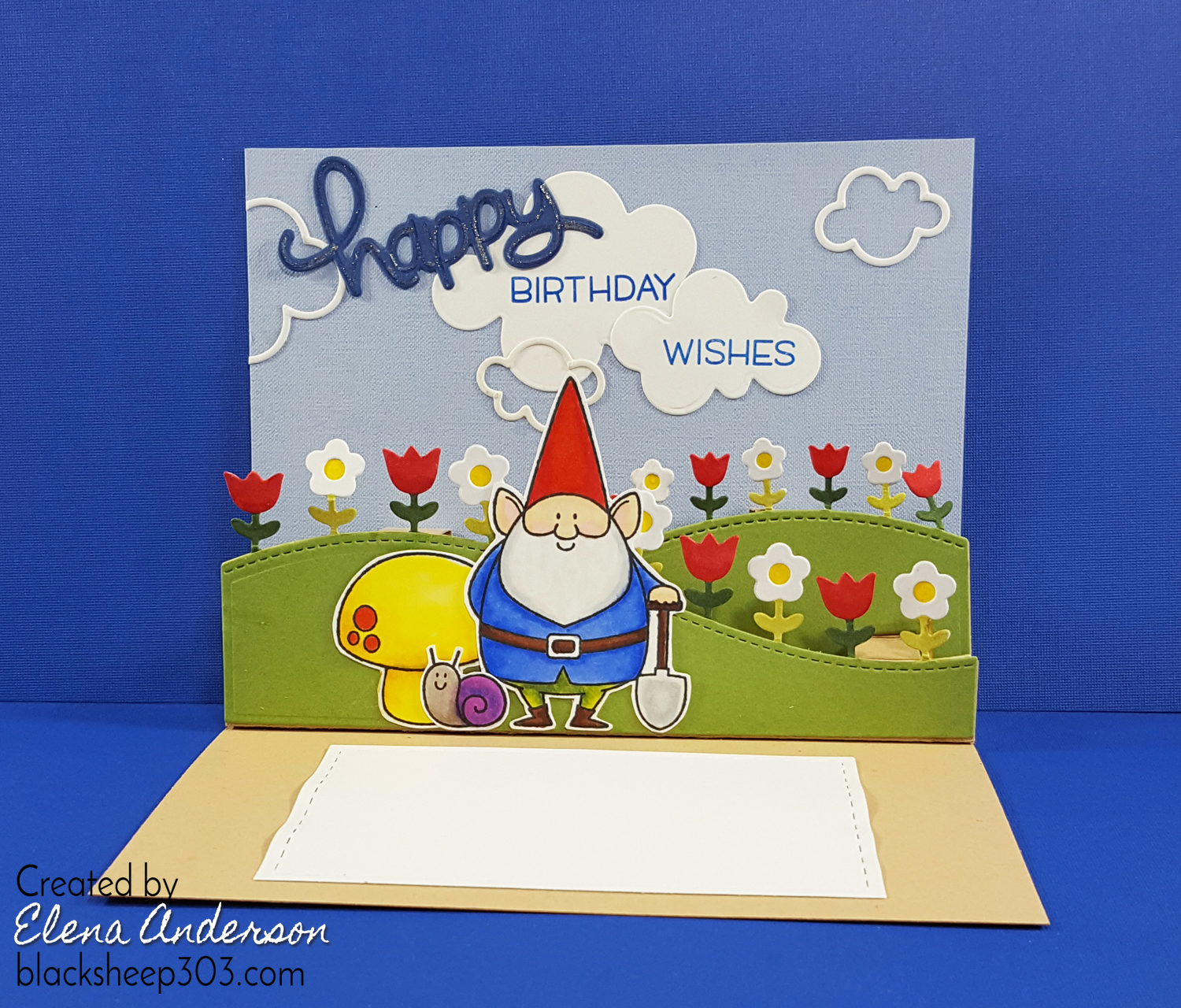 Pop up gnome birthday card with lawn fawn mft stamps popupgnome inside3s bookmarktalkfo Image collections