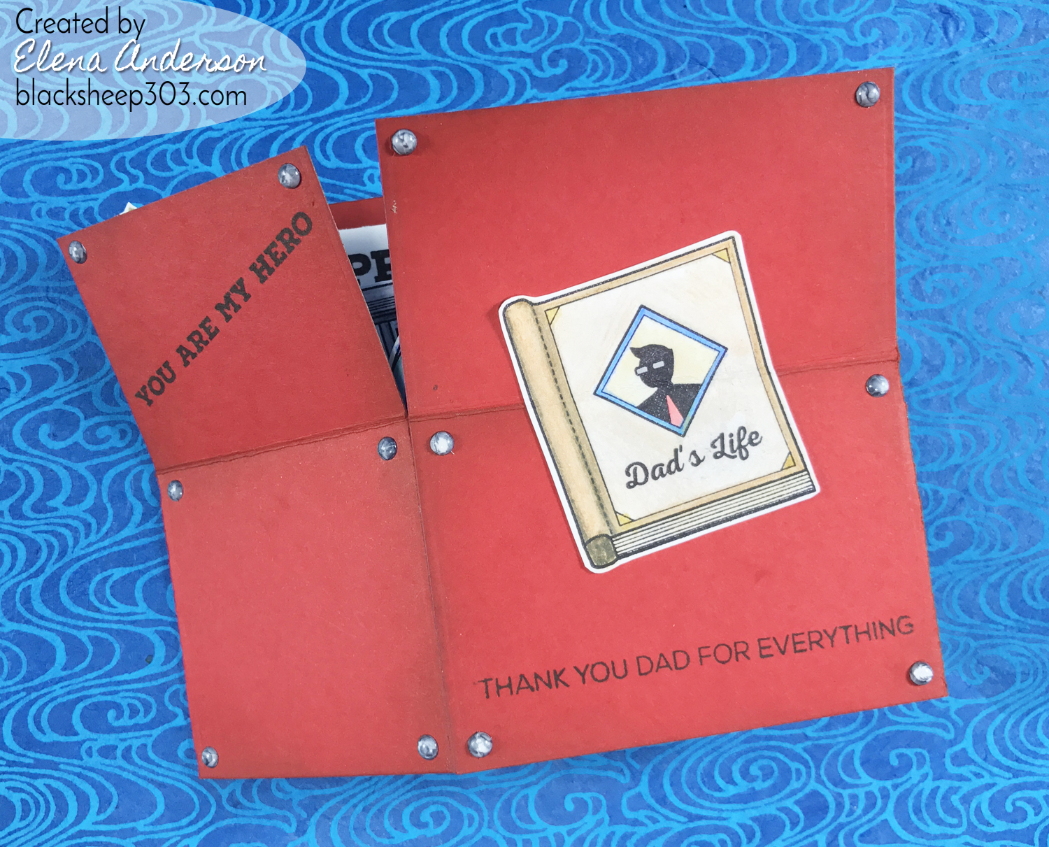 Altenew Tool Box Father's Day Card - Outside