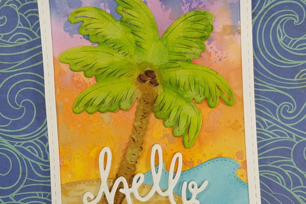 Tropical Distress Oxide Sunset Card