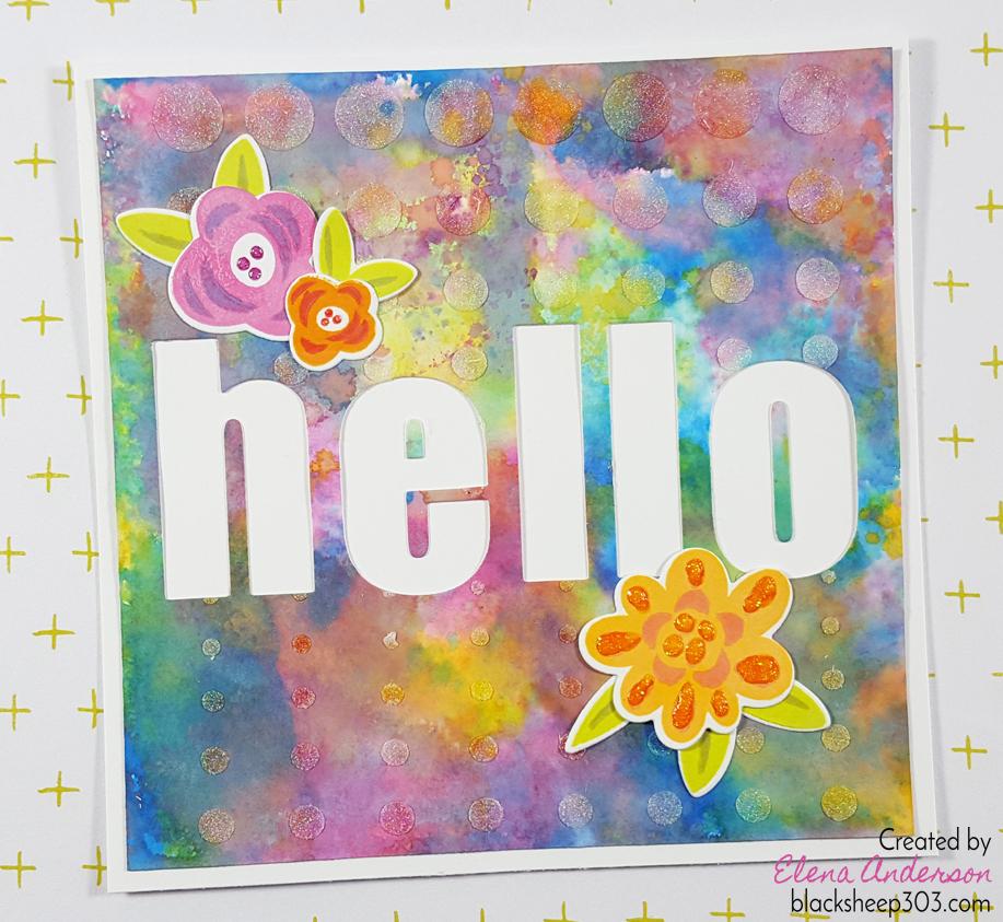 Bold Distress Oxide Hello Card