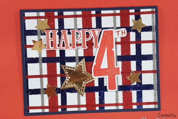 Happy 4th Quick & Easy Plaid Glitter Card