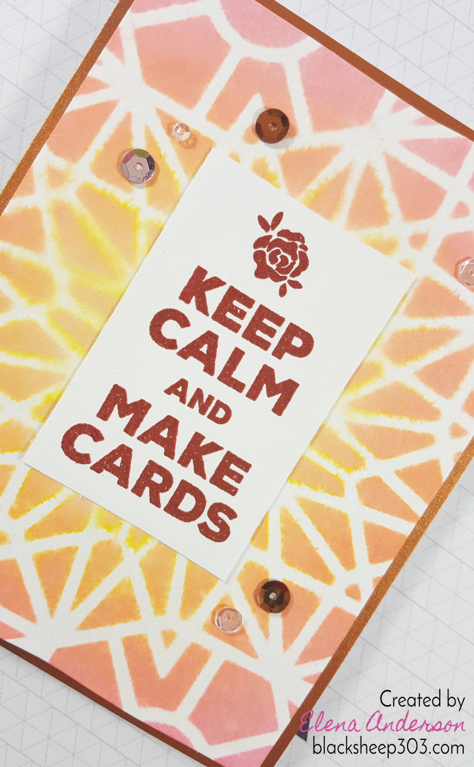 Keep Calm & Make Cards with Altenew and Distress Oxides - Detail