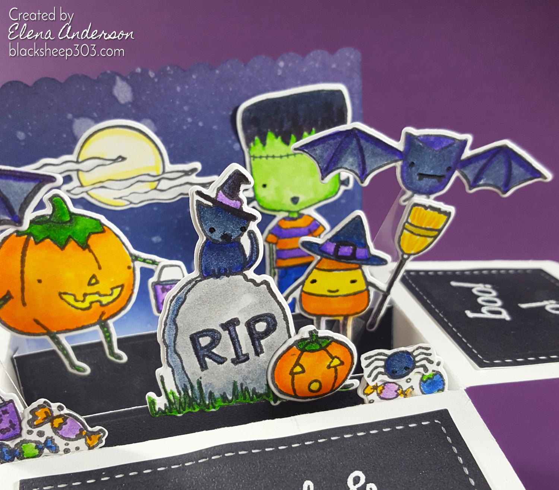 Halloween Pop-Up Box Card - Detail