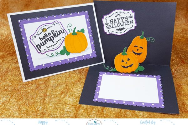 Hello Pumpkin Halloween Pop Up Card