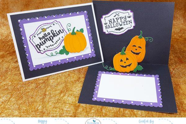Hello Pumpkin Halloween Pop Up Card