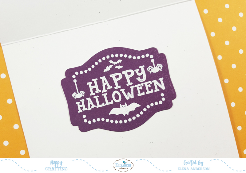 Ugly Halloween Sweater Card for Elizabeth Craft Designs Blog Hop - Inside