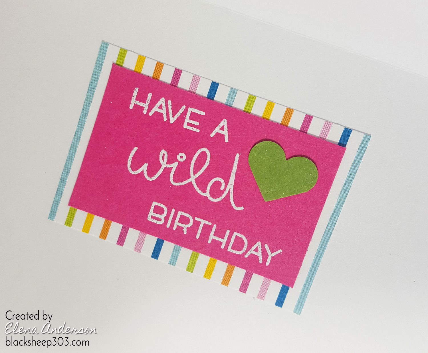 Lawn Fawn Colorful Shaker Birthday Card - Inside