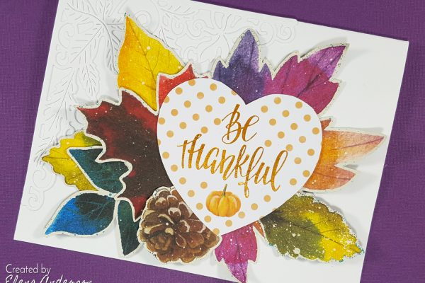 Colorful & Contemporary Be Thankful Card