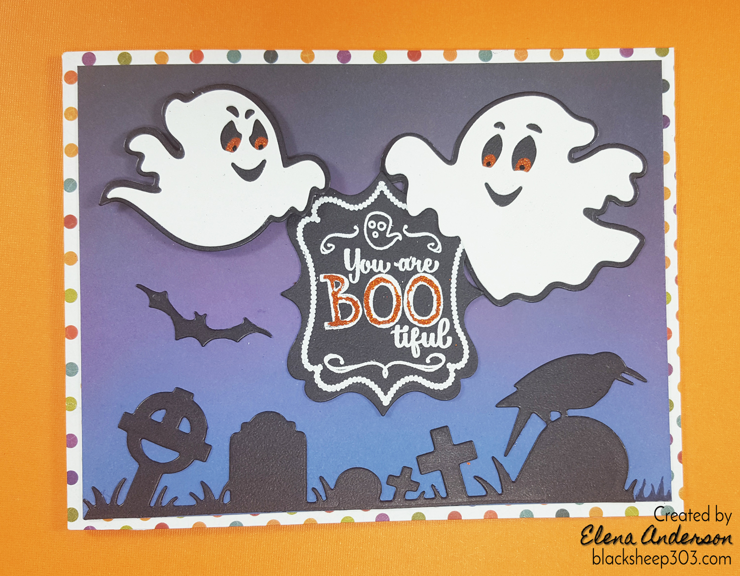 Boo-tiful Halloween Ghosts Card with Elizabeth Craft Designs & Distress Oxides