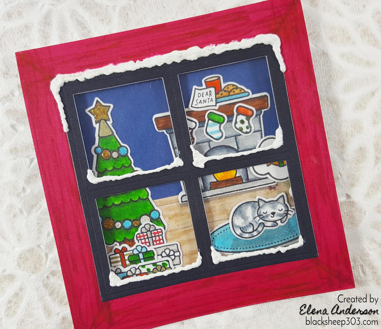 Lawn Fawn Christmas Dreams Window Card