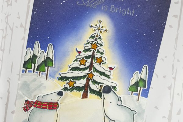 Silent Christmas Night for Elizabeth Craft Designs Designers' Challenge