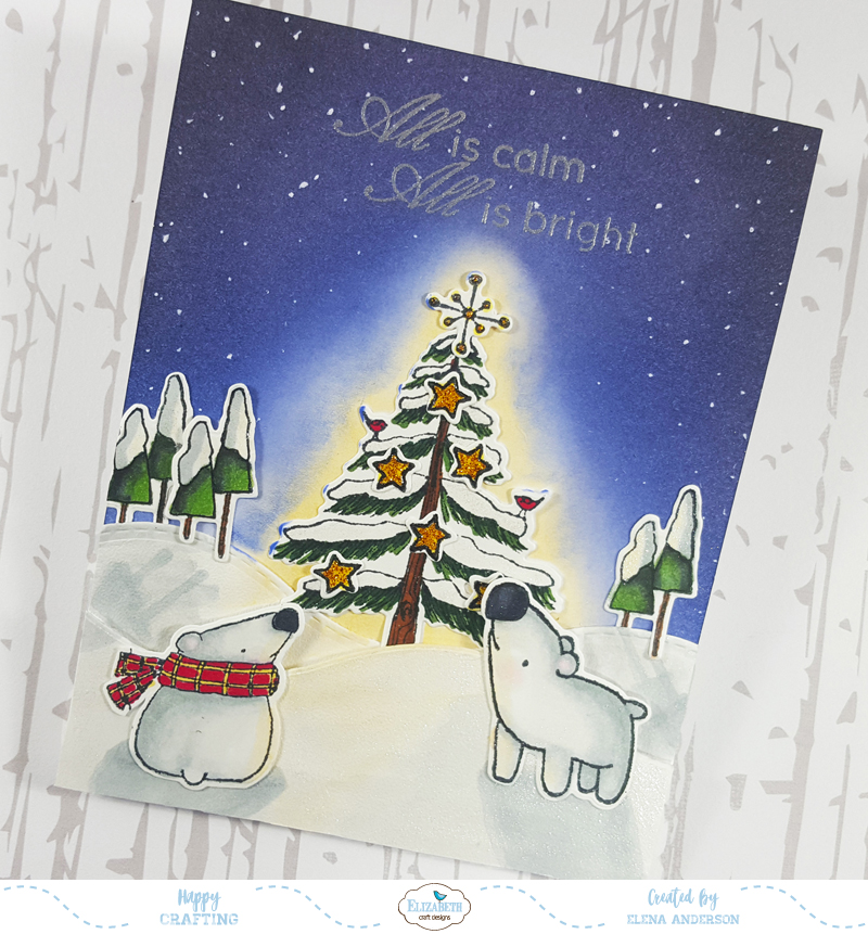 Silent Christmas Night for Elizabeth Craft Designs Designers' Challenge