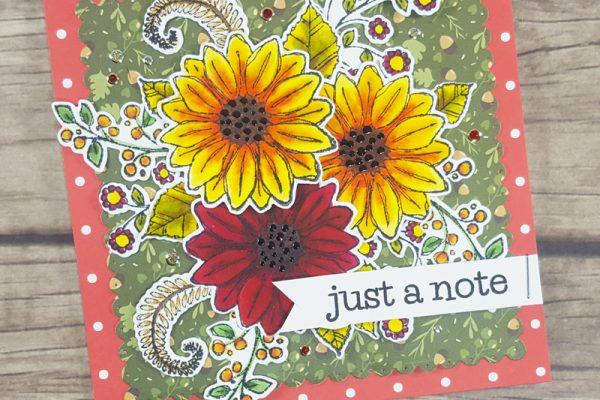 Fall Blossom Time Card for Elizabeth Craft Designs