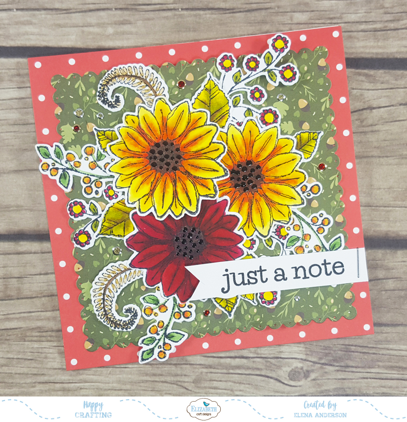 Fall Blossom Time Card for Elizabeth Craft Designs