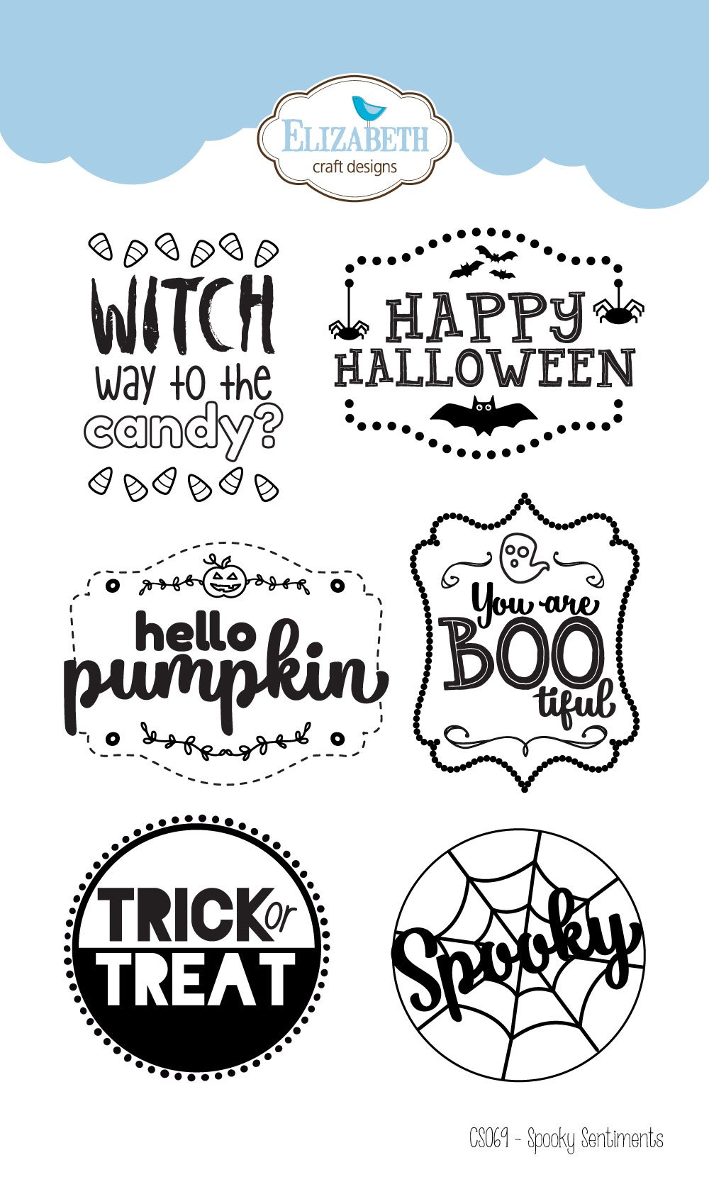 Halloween ghosts card with the greeting farm distress oxides the spooky sentiments stamp set m4hsunfo