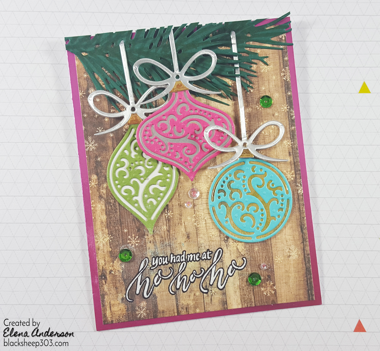 non traditional christmas ornaments card