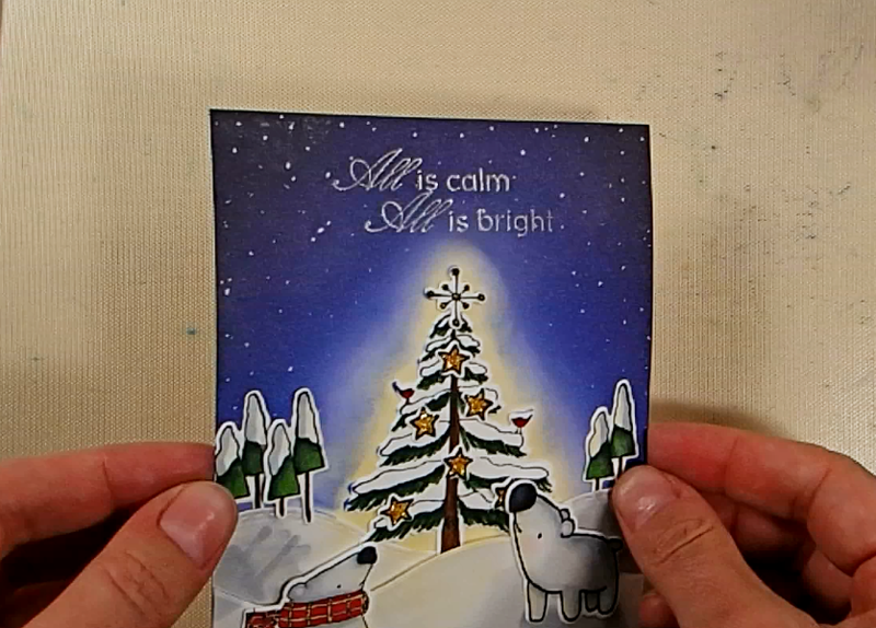 Peaceful Night Christmas Card - Step 6