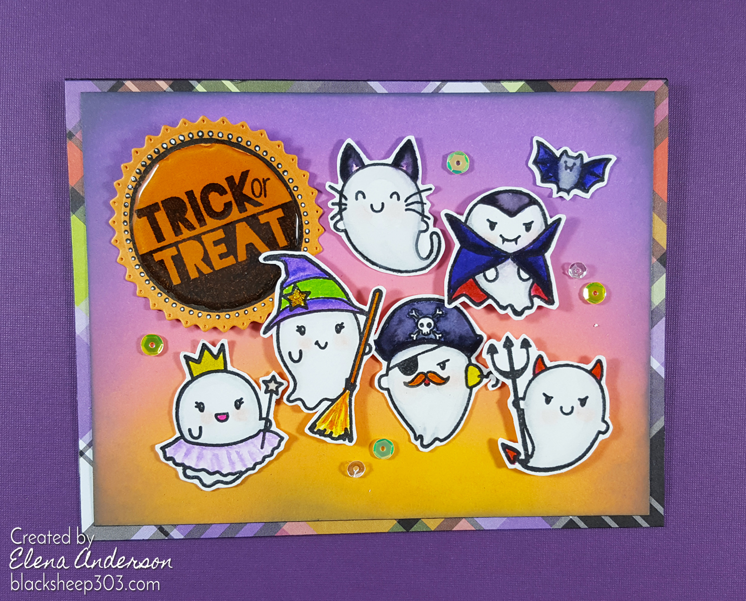 Trick or Treat Halloween Ghost Card with The Greeting Farm