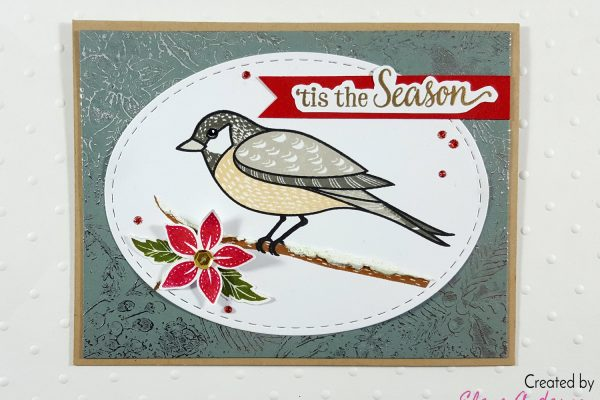 Christmas Chickadee Card with Hero Arts & DecoFoil