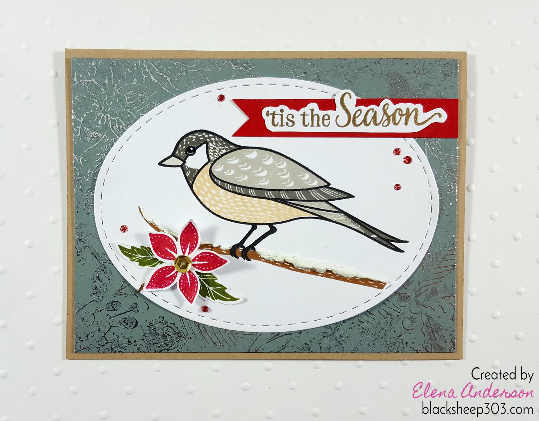 Christmas Chickadee Card with Hero Arts & DecoFoil