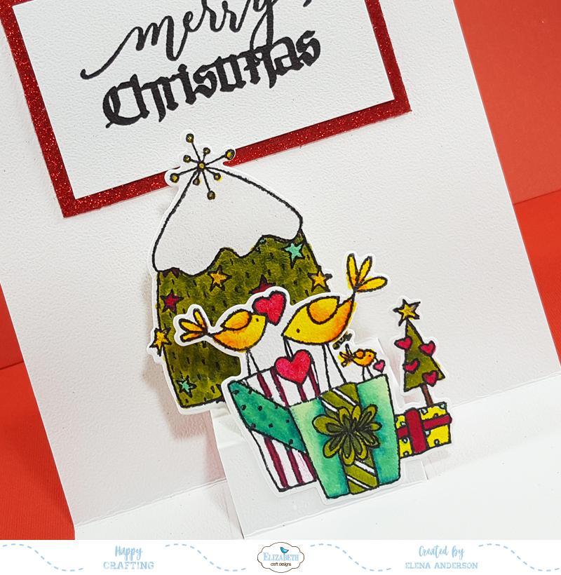 Elizabeth Craft Designs Pop-Ups Challenge Card - Inside Detail