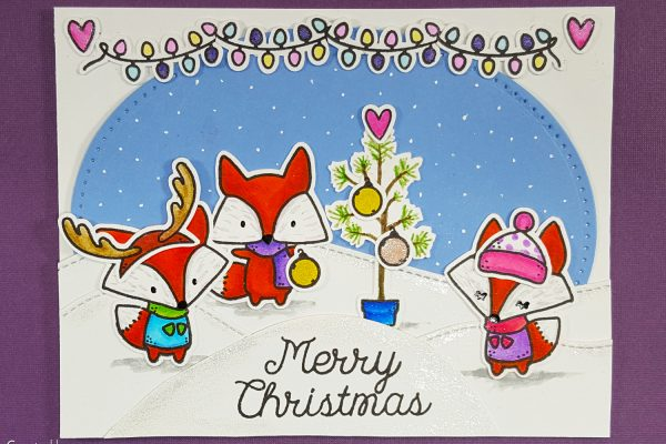 Oh What Fun Christmas Critter Card with The Greeting Farm & Zig Clean Color Real Brush Markers
