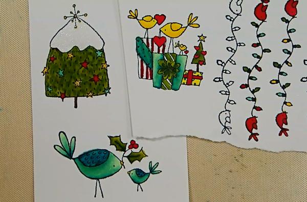 Bird-Themed Holiday Pop-Up Card - Step 1