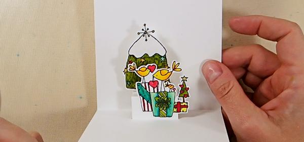 Bird-Themed Holiday Pop-Up Card - Step 3