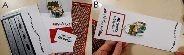 Bird-Themed Holiday Pop-Up Card - Step 4