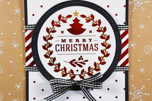 Easy Red & Black Christmas Card with Gina K Designs & Thermoweb
