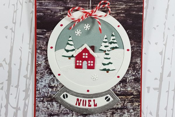 Snowglobe Ornament Card with Elizabeth Craft Designs