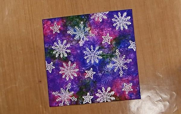 Stamped Snowflake Background Card - Step 2