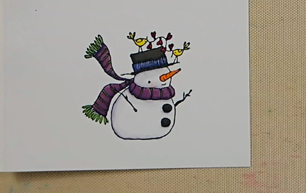 Stamped Snowflake Background Card - Step 4