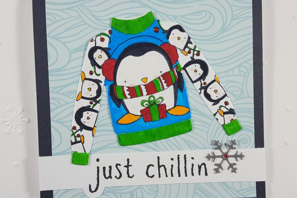 Ugly Christmas Sweater Card with Elizabeth Craft Designs