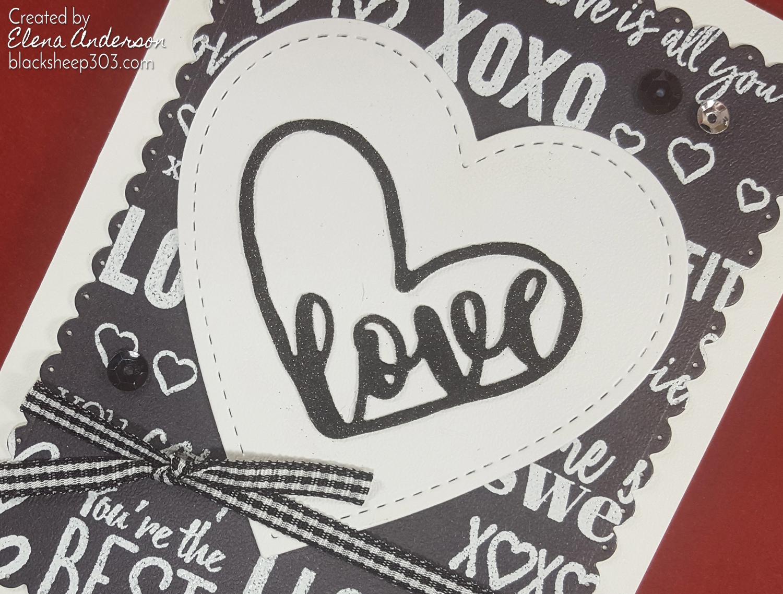 Crazy 4 Challenges Opposites Valentine with Elizabeth Craft Designs