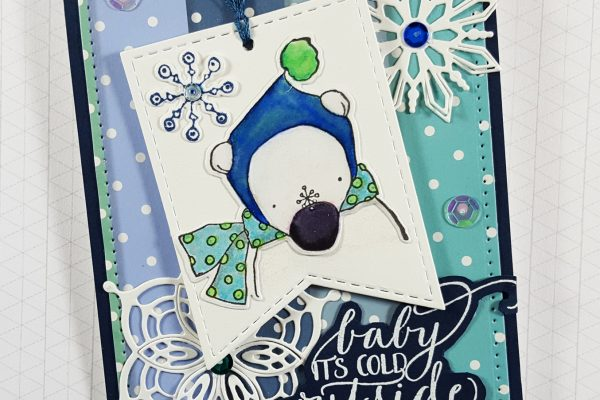 Crazy 4 Challenges Tag Card with Elizabeth Craft Designs