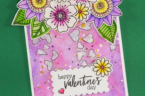 Mixed Media Floral Valentine with Elizabeth Craft Designs