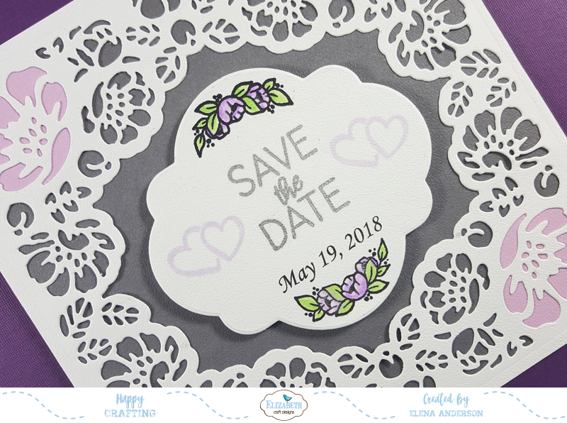 ModaScrap January Release Save the Date Card - Detail