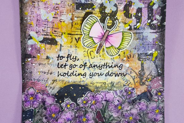 Mixed Media Artist Tile with Tim Holtz & Elizabeth Craft Designs