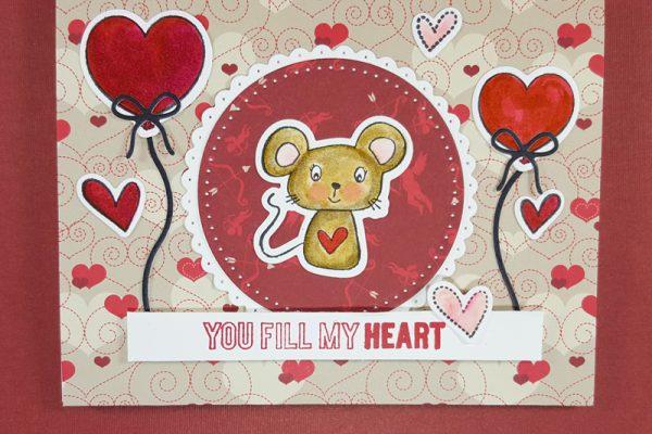 Manly-ish Mouse Valentine for Elizabeth Craft Designs