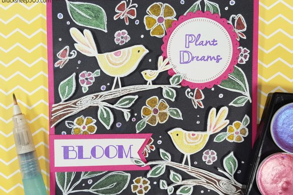 Birds & Branches Bloom Card with Elizabeth Craft Designs