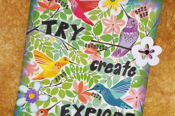 Mixed Media Art Panel with Tim Holtz Idea-ology & Distress Products
